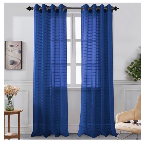 Glory Home Design Other - Karen Sheer Grommet-Top Single Curtain Panel_NVSHR